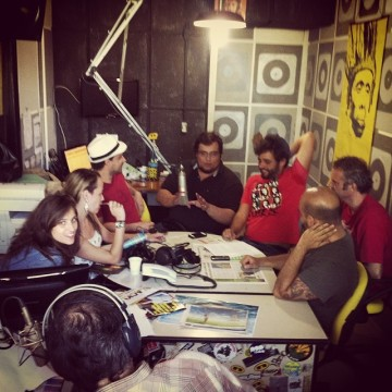 Marco's being interviewed at Radio Ipanema