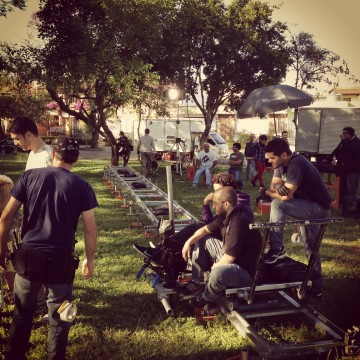 Marco's crew setting up the shooting for another commercial