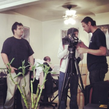 "Set of ""Open House"" short-film written by Marco Carvalho and directed by Roberto Ricci for NYFA"
